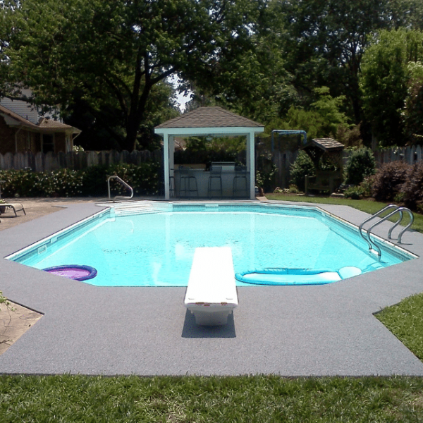DECKadence boat carpet around swimming pool