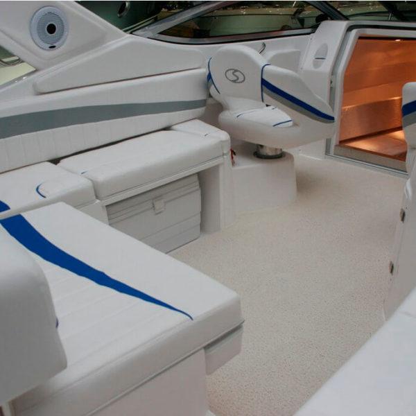 white boat carpet on a boat