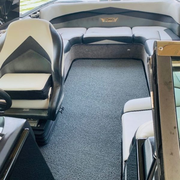 DECKadence Synthetic Boat Carpet in a boat