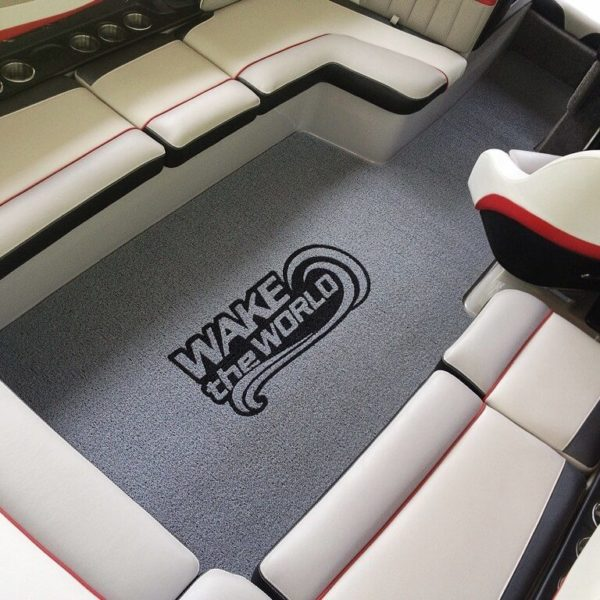 Cool logo on a speed boat