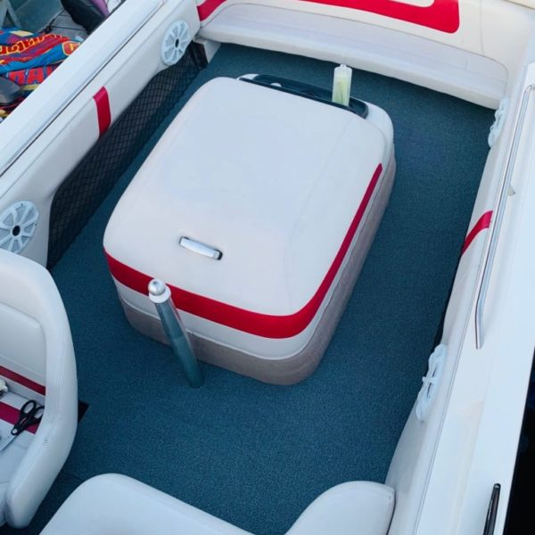 Boat carpet on a performance boat